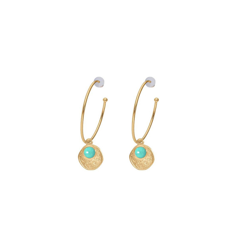 Gold-plated amazonite Melia earrings