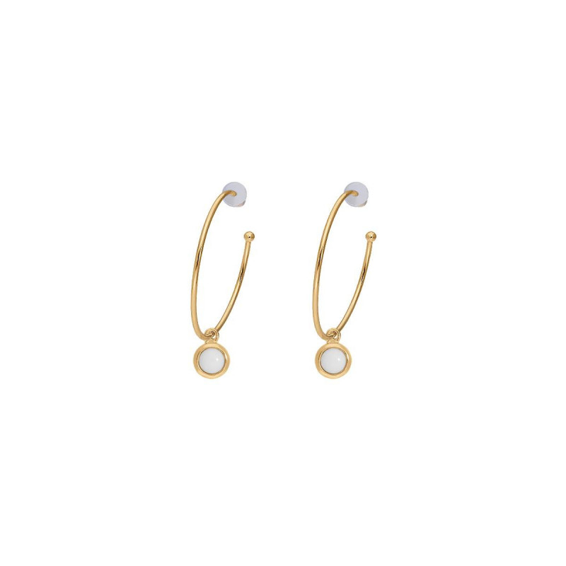Gold-plated white turquoise Thallie earrings