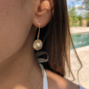 Gold-plated white turquoise Clio earrings