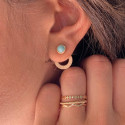 Gold plated amazonite Ambrosia earrings