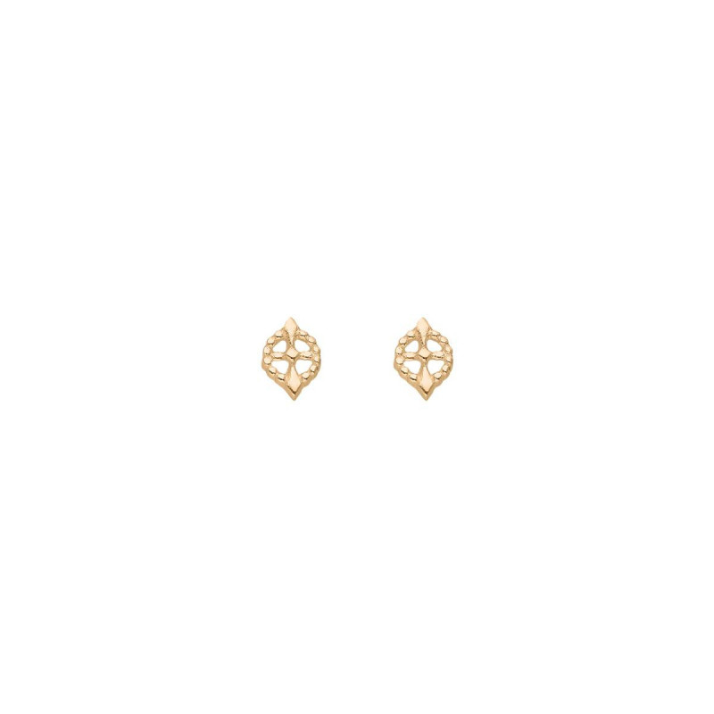 Gold-plated Eos earrings