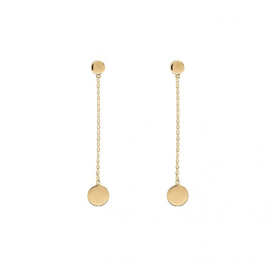 Chain earrings with small and large circle