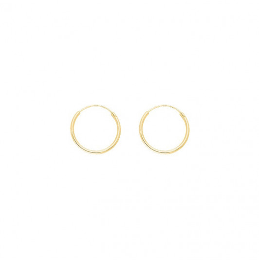 1.4 cm hoop earrings