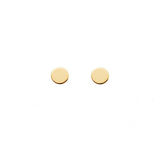Small round stud earrings for children