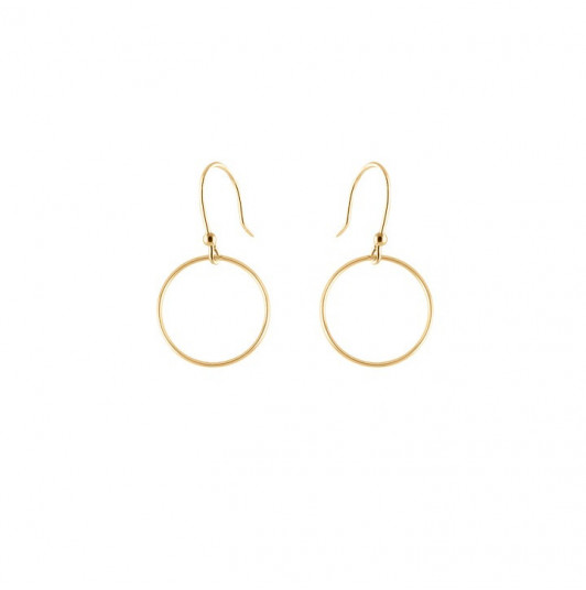 French hook circle earrings