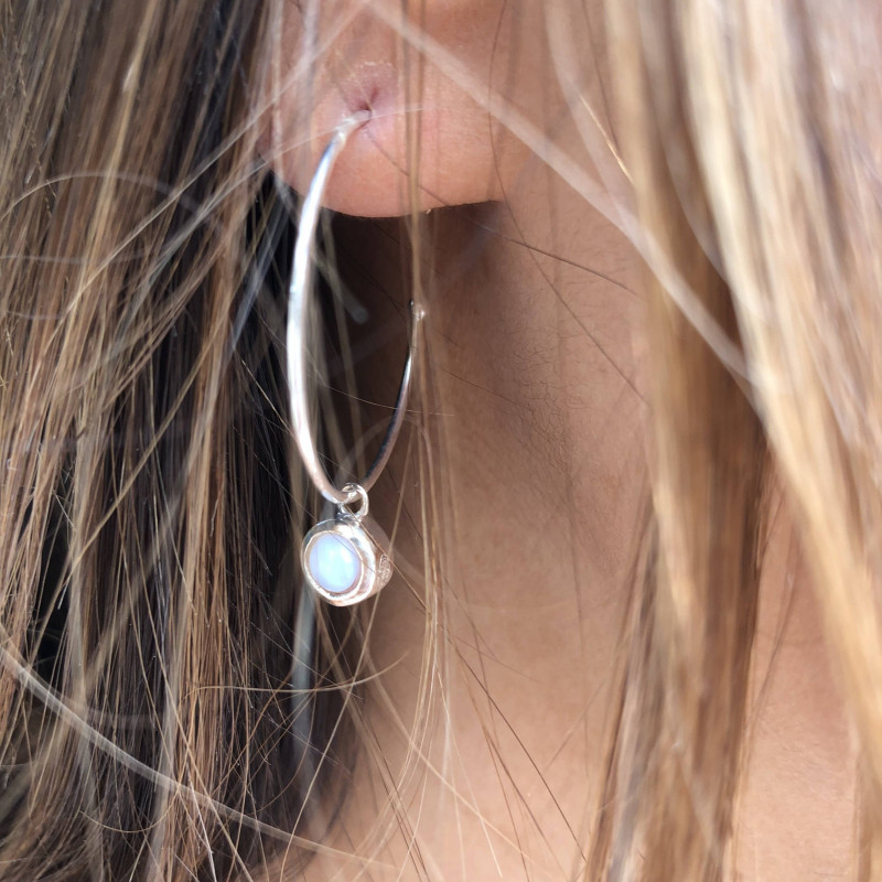 925 Silver amazonite Thallie earrings