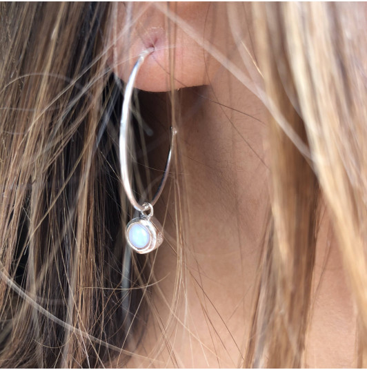 925 Silver white turquoise Thallie earrings