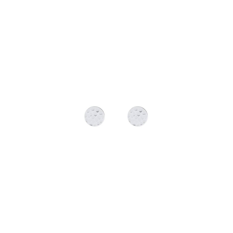 925 Silver hammered & brushed stud earrings