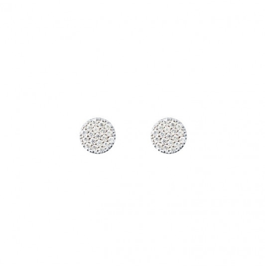 Small round zircons stud earrings