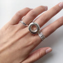 Silver donut ring