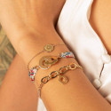 Liberty bracelet with gold-plated handcuffs